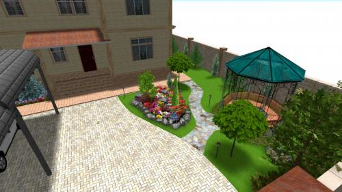 Ландшафтный проект загородного дома